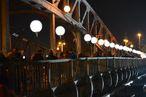Lichtergrenze an der Bösebrücke; Foto: privat